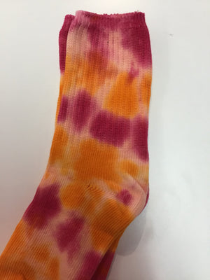 Tie Dye Cotton Soft Crew Socks