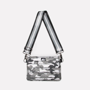 Bum Bag / Cross Body Shiny Camo Silver