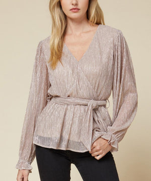 Metallic Long Sleeve Blouse