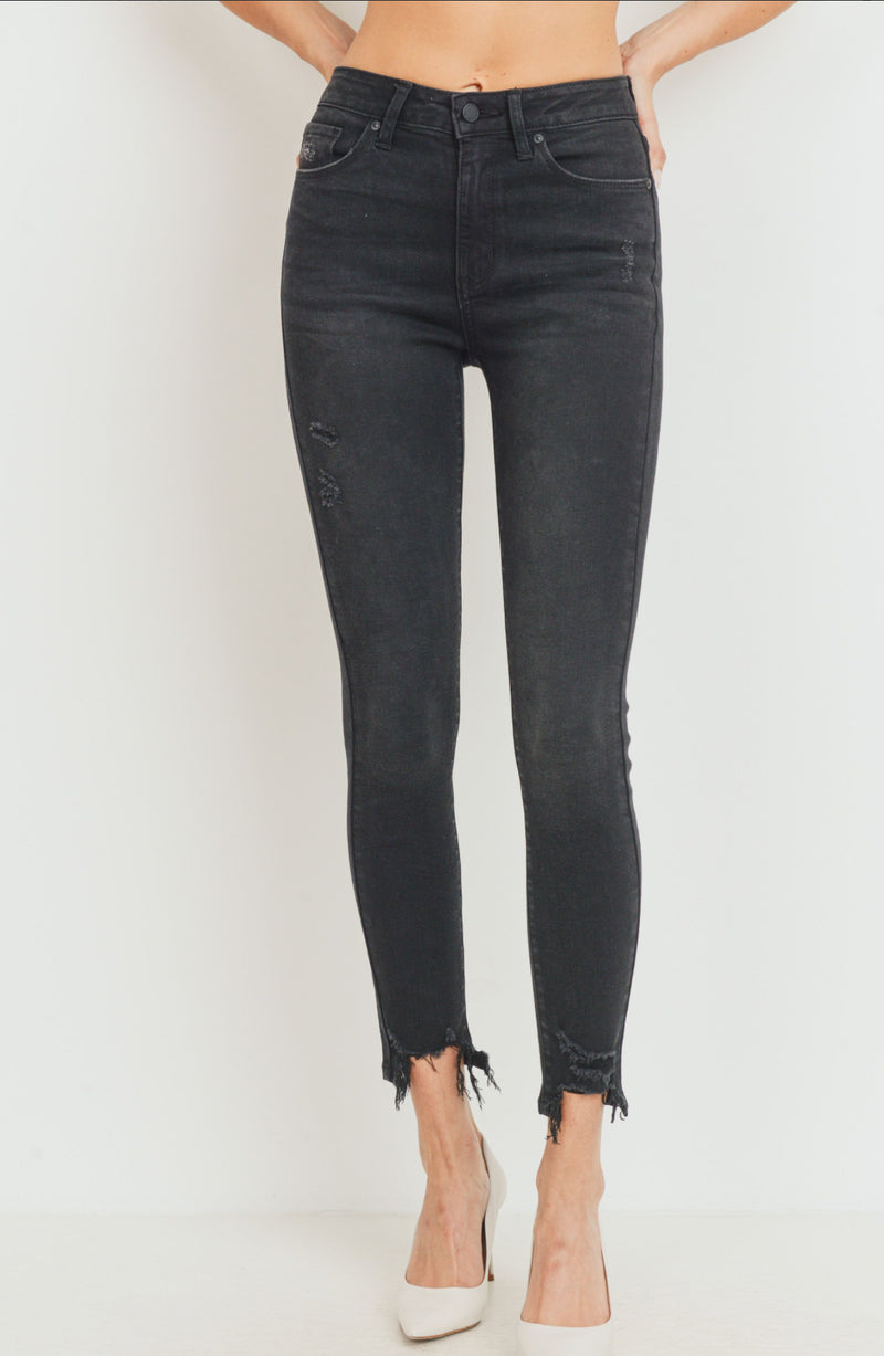 High Rise Basic Black Skinny