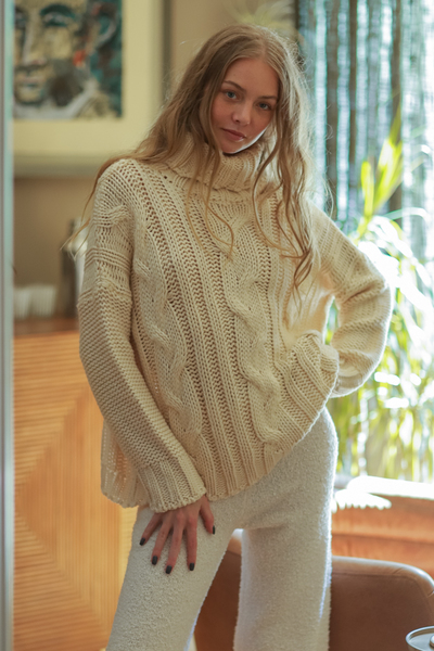 Turtleneck Ivory Sweater