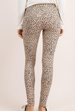 Cheetah Print Ribbed Leggings