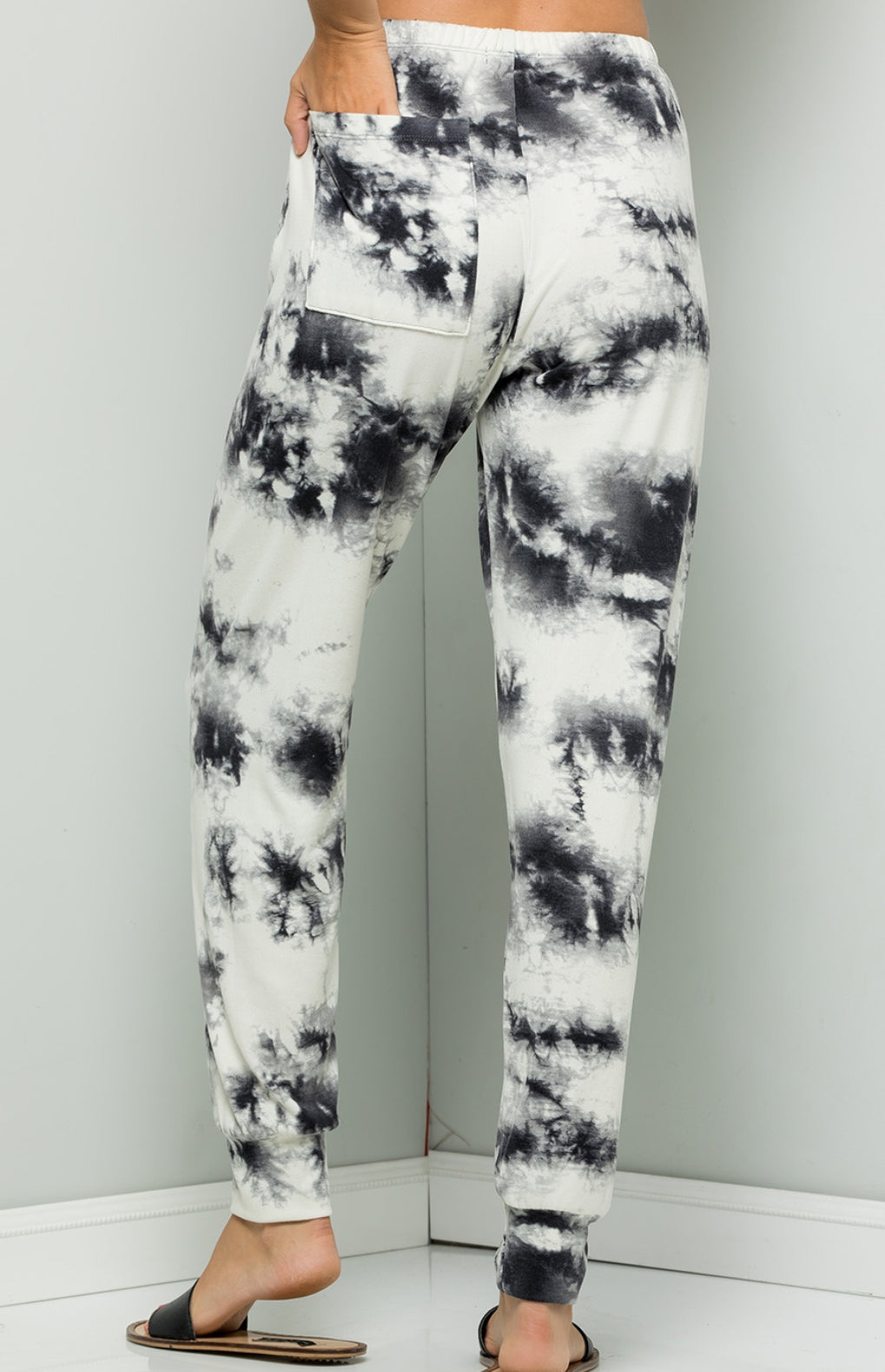 Black and White Tie Dye Lounge Pants