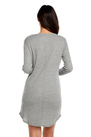 Triblend Long Sleeve Henley Dress