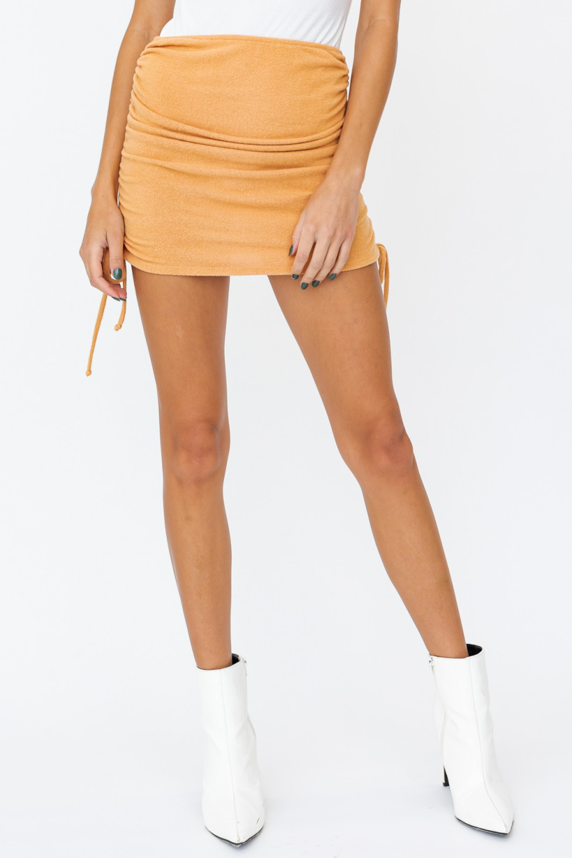 Dusty Peach Ruched Skirt