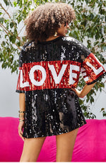 Love Sequin Tunic Top or Dress