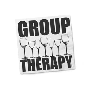 Group Therapy Cocktail Napkin