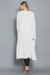 Sweater Long Cardigan White