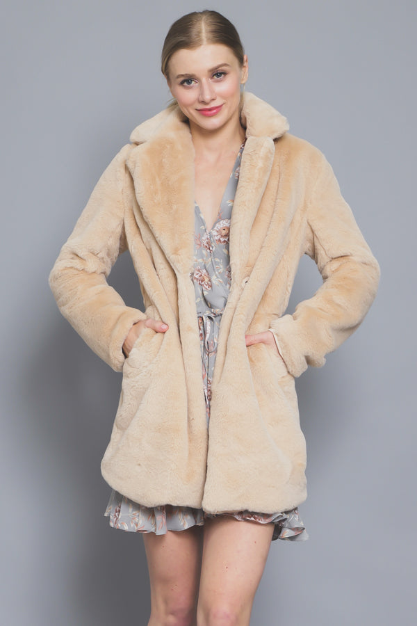 Soft Faux Fur Jacket