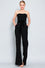 Black Tube Tie Front Jumpsuit