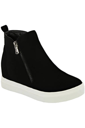 Black Sueded Sneaker Bootie