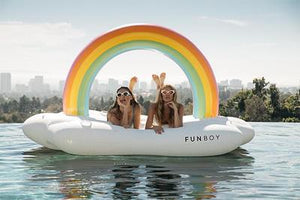 Rainbow Cloud Daybed Pool Lounger