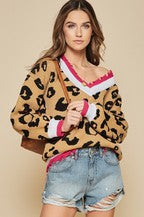Leopard Sweater Distressed