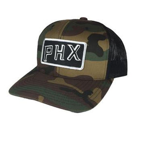 PHX Trucker Hat Camo or Black
