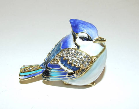 Dragonfly Bejeweled & Enameled Double Hinged Trinket Box Swarovski Crystals Teal - The Ritzy Gift
