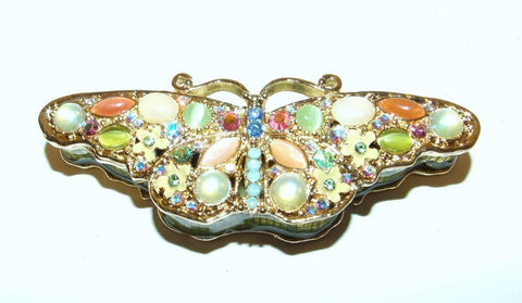 Cabachon Butterfly Bejeweled & Enameled Trinket Box Swarovski Crystals - The Ritzy Gift
