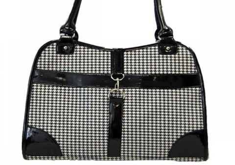 Anima Houndstooth Print Shoulder Bag Dog Carrier - The Ritzy Gift