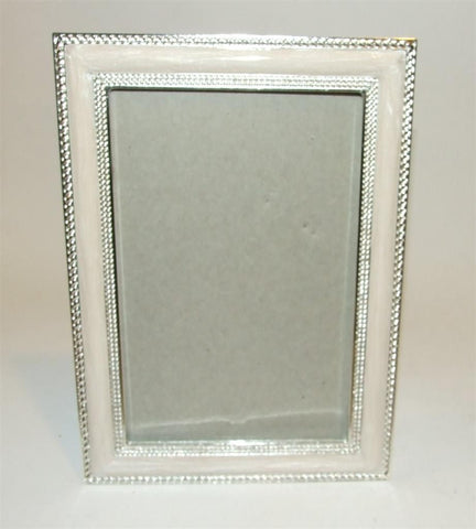 Ashleigh Manor Yvonne White & Silver Tone Picture Photo Frame 4 x 6 NIB - The Ritzy Gift