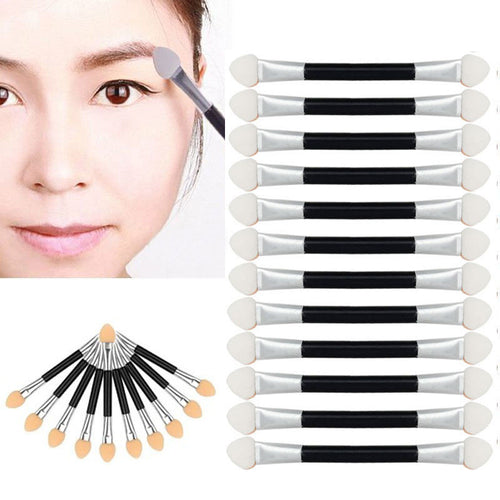 12 Pcs Makeup Double-end Eye Shadow Eyeliner Brush Sponge Applicator Tool