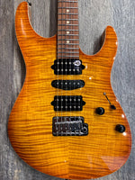 Suhr Custom Modern HSH Electric Guitar Trans Amber Burst
