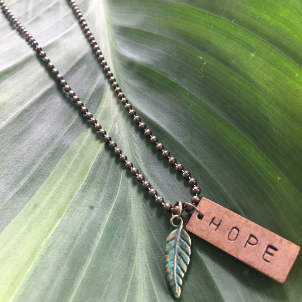 Hand stamped Inspiration Necklace