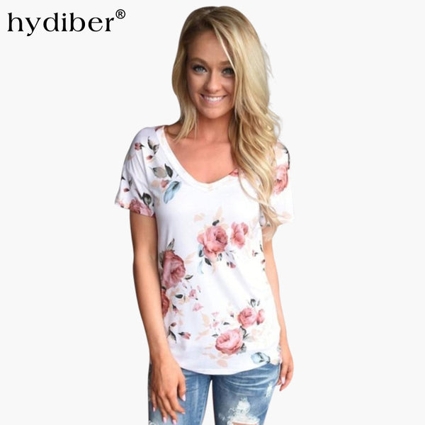 Floral Print Short Sleeve T-shirt