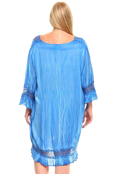 Women's Plus Size 3/4 Three Quarter Sleeved