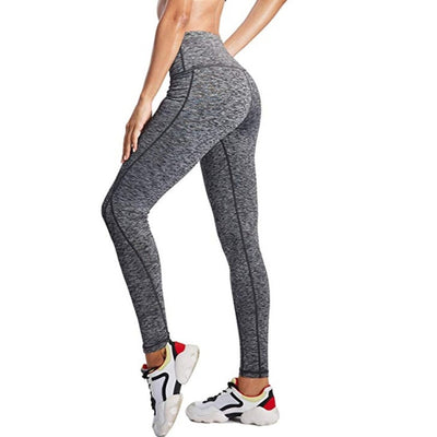 2019 high waist sports legging with pocket for women fashion new female workout stretch pants plus size Elastic fitness leggings