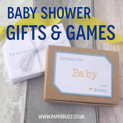 Baby Shower Gifts & Games by Paperbuzz