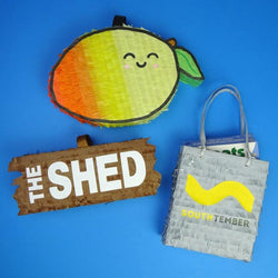 St. Mango, The Shed & Southtember business logo pinatas by Southside Pinatas
