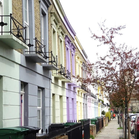 Colourful houses in Camden, London