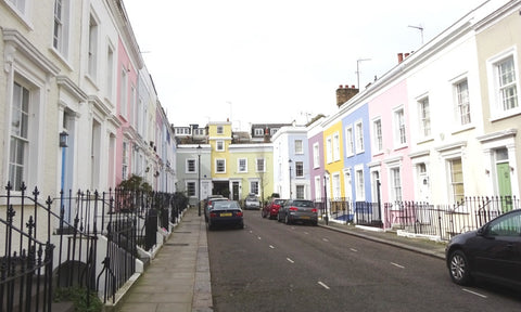 Pastel streets in Notting Hill, London