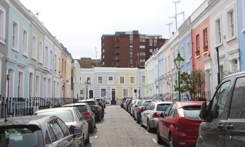 Notting Hill painted houses
