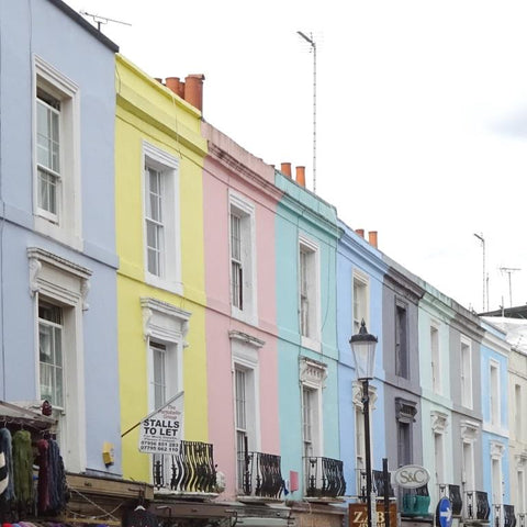 Portobello Road pastel painted houses