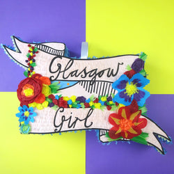 Claire Barclay's Glasgow Girl pinata by Southside Pinatas