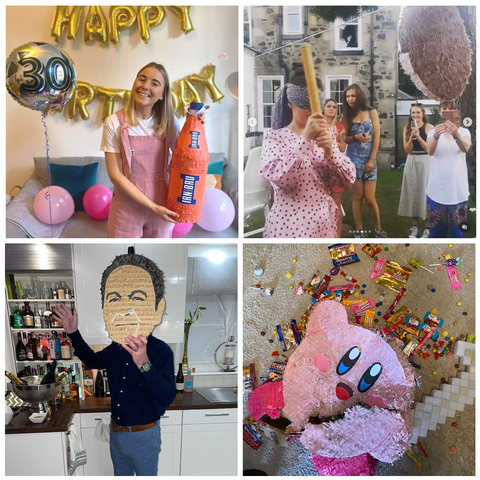 Customer photos of party pinatas from Southside Pinatas