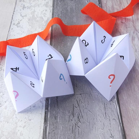 Party ice breaker question fortune teller game