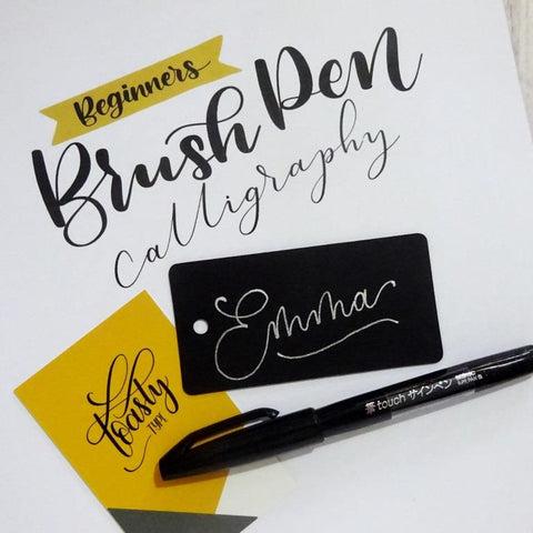 brush pen lettering