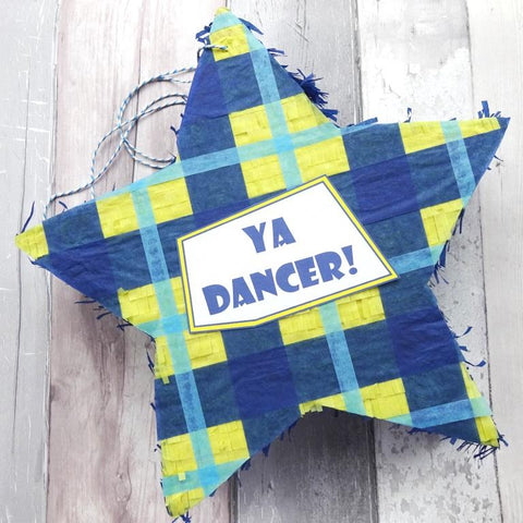 Ya Dancer Scottish Tartan Pinata by Paperbuzz