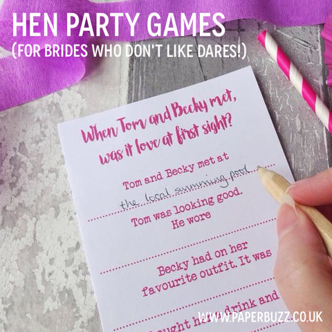 blog tagged hen party games paperbuzz