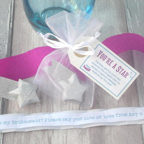 'Be My Bridesmaid' Personalised Origami Star