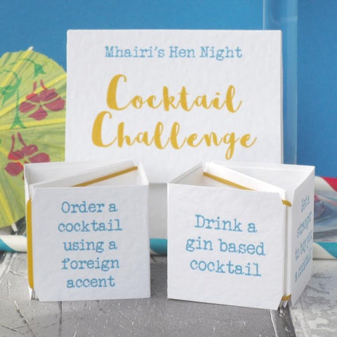 Cocktail Challenge Hen Party Game by Paperbuzz