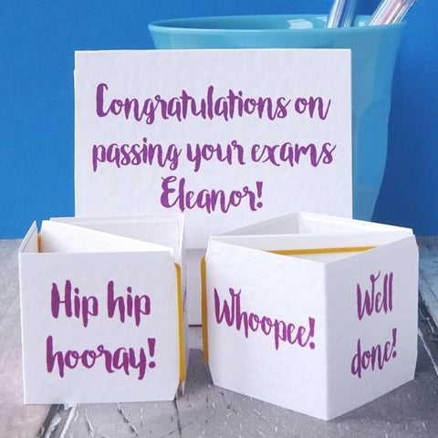 Exam Congratulations Popping Card