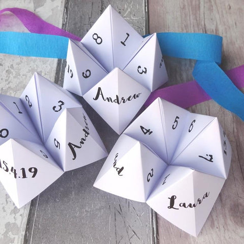 Wedding Dares Fortune Tellers by Paperbuzz