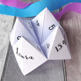 Unusual Wedding Favour Fortune Teller by Paperbuzz
