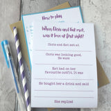 Love at First Sight Hen Party Game