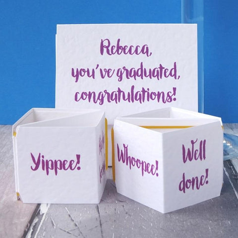 Personalised Graduation Popping Card