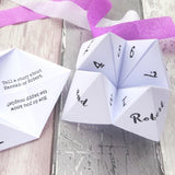Wedding Ice Breaker Fortune Tellers by Paperbuzz