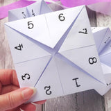 Wedding Favour Fortune Teller by Paperbuzz