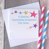 Rainbow Unicorn Christmas Card For A Girl Or Boy